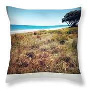 Coastline Throw Pillow by Les Cunliffe