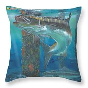 Cobia Strike In0024 Throw Pillow by Carey Chen