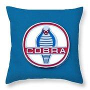Cobra Emblem Throw Pillow by Jill Reger