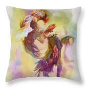 Cock Fight Throw Pillow by Catf