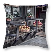 Coffe Shop Cafe Throw Pillow by Heather Applegate