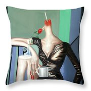 Coffee Break Throw Pillow by Anthony Falbo