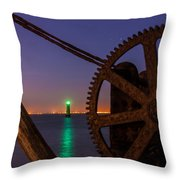 Cogwheel Framing Throw Pillow by Semmick Photo