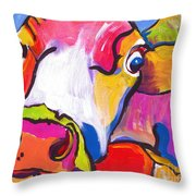 Cold Hands Throw Pillow by Pat Saunders-White