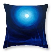 Cold Orb Throw Pillow by Michelle Wiarda