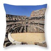 Coliseum . Rome Throw Pillow by Bernard Jaubert