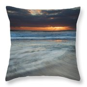 Colliding Tides Throw Pillow by Mike  Dawson