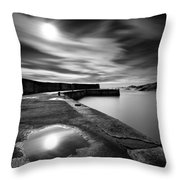 Collieston Breakwater Throw Pillow by Dave Bowman