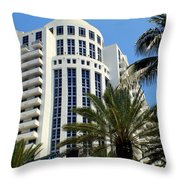 Collins Ave Throw Pillow by Karen Wiles