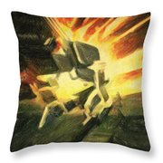 Collision Throw Pillow by Taylan Soyturk