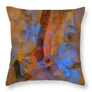Color Abstraction XVIII Throw Pillow by David Gordon