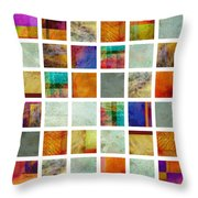 Color Block collage abstract art Throw Pillow by Ann Powell