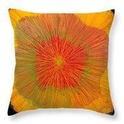 Color Burst 4 Throw Pillow by Anna Skaradzinska