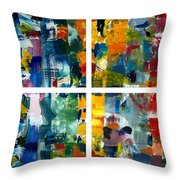 Color Relationships Collage Throw Pillow by Michelle Calkins
