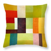 Color Study Abstract 10.0 Throw Pillow by Michelle Calkins