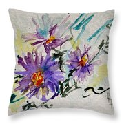 Colorado Asters Throw Pillow by Beverley Harper Tinsley