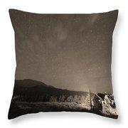 Colorado Chapel On The Rock Dreamy Night Sepia Sky Throw Pillow by James BO  Insogna