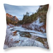 Colorado Creek Throw Pillow by Darren  White