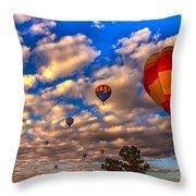 Colorado River Crossing 2012 Throw Pillow by Robert Bales