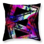 Colored Geometric Art Throw Pillow by Mario Perez
