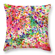 Colorful Abstract Circles Throw Pillow by Susan Leggett