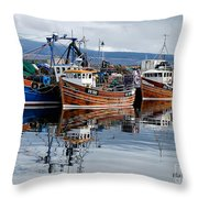 Colorful Reflections Throw Pillow by Lois Bryan