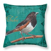 Colorful Songbirds 3 Throw Pillow by Debbie DeWitt