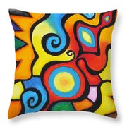 Colorful Throw Pillow by Sven Fischer