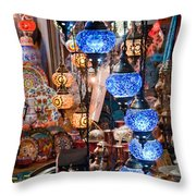 Colorful Traditional Turkish Lights  Throw Pillow by Leyla Ismet