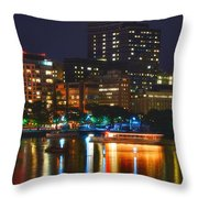 Colors On The Charles Throw Pillow by Joann Vitali