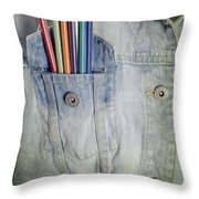 Coloured Pencils Throw Pillow by Joana Kruse