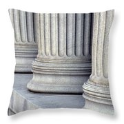 Columns Throw Pillow by Jon Neidert