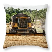 Combine Harvester Throw Pillow by Georgia Fowler