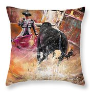 Come If You Dare Throw Pillow by Miki De Goodaboom