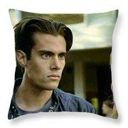 Come On Bobby Throw Pillow by Luis Ludzska