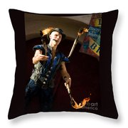 Comedy Juggling Throw Pillow by Mary AD Art
