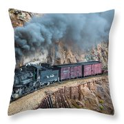 Coming around the corner Throw Pillow by Inge Johnsson