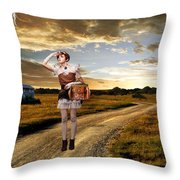 Coming Home Throw Pillow by Ester  Rogers