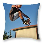 Coming In To Land - Action Throw Pillow by Kaye Menner
