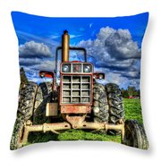 Coming Out Of A Heavy Action Tractor Throw Pillow by Eti Reid