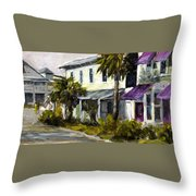Commerce And Avenue D Throw Pillow by Susan Richardson