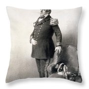 Commodore Matthew Calbraith Perry Throw Pillow by Wilhelm Heine