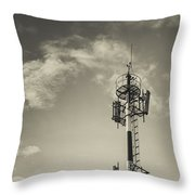 Communication Tower Throw Pillow by Marco Oliveira