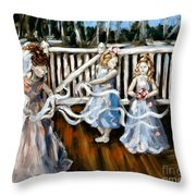 Communion Throw Pillow by Carrie Joy Byrnes