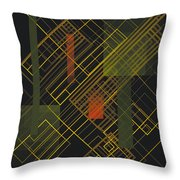 Composition 15 Throw Pillow by Terry Reynoldson