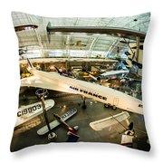 Concorde Throw Pillow by Randy Scherkenbach