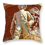 Confederate Soldier Statue I Alabama State Capitol Throw Pillow by Lesa Fine