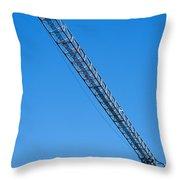 Construction Crane 01 Throw Pillow by Antony McAulay