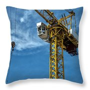 Construction Crane Asia Throw Pillow by Antony McAulay
