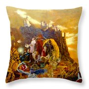 Constructors Of Time Throw Pillow by Henryk Gorecki